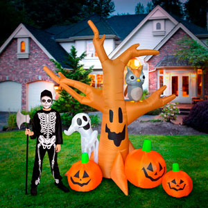 Ghost tree owl halloween Inflatables