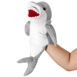 "10"" Plush Shark Hand Puppet By Giftable World"