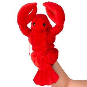 "10"" Plush Lobster Hand Puppet By Giftable World"