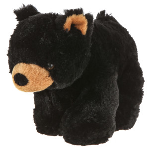 "10"" Plush Lying Black Bear By Giftable World®"
