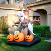 8' FT Haunted Tree with Pumpkins, Ghosts, and Spider Halloween Inflatable