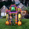10' Frankenstein Jack 'O' Lantern Haunted House Light Up Halloween Inflatable