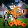 8' FT Haunted Tree with Pumpkins, Ghost, and Owl Halloween Inflatable