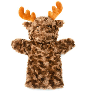 "12"" Plush Moose Hand Puppet By Giftable World"