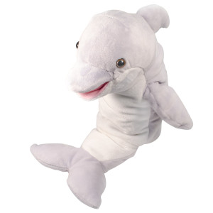 "10"" Plush Dolphin Hand Puppet By Giftable World"
