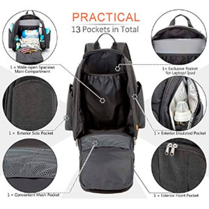 All in One Multi-function Diaper Bag Backpack with Changing Station by Yodo