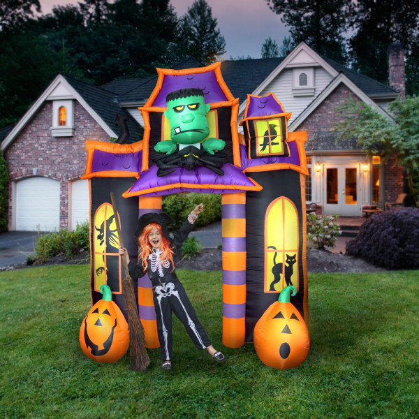 halloween inflatable 10 frankenstein jack o lantern haunted house light up halloween