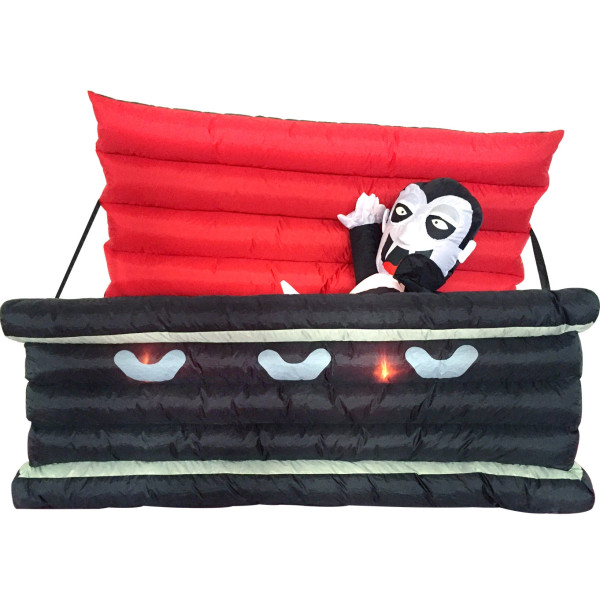 6' Vampire in a Coffin Light Up Halloween Inflatable