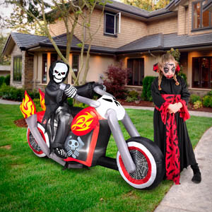 motorcycle grim ripper halloween Inflatables